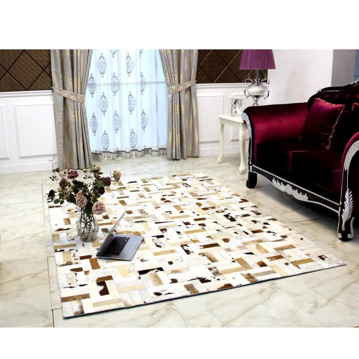 TEMPO KONDELA TYP 1 120x180 cm koberec kožený - vzor patchwork