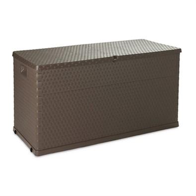 Záhradný úložný box Rattan, tmavo šedá