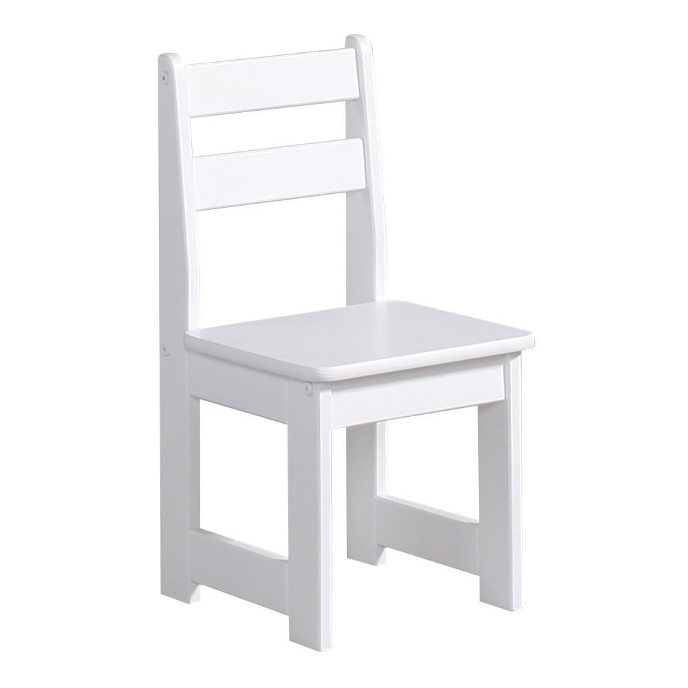 Biela detská stolička z masívneho borovicového dreva