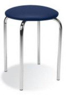 09f12f6640b1 NOWY STYL CHICO stolička - chróm   modrá látka (C14)