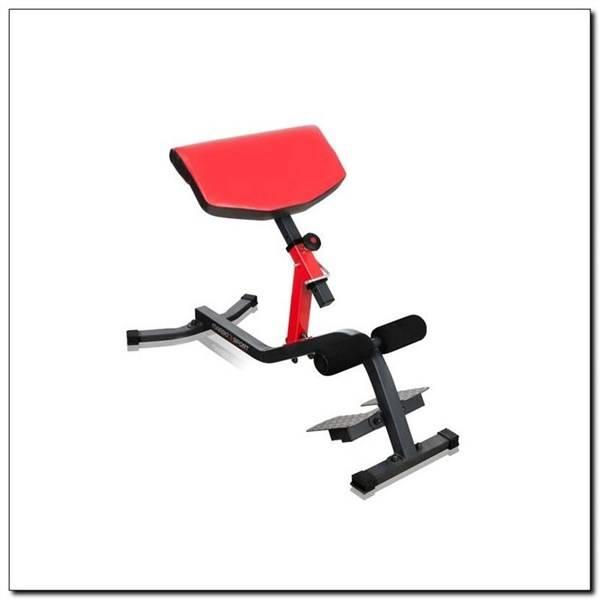 Lavica/lavička Marbo MS-L108 k cvičení zad čierna/červená