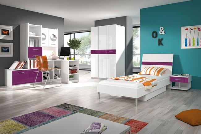 Študentská izba Ruby I (biela + fialová)