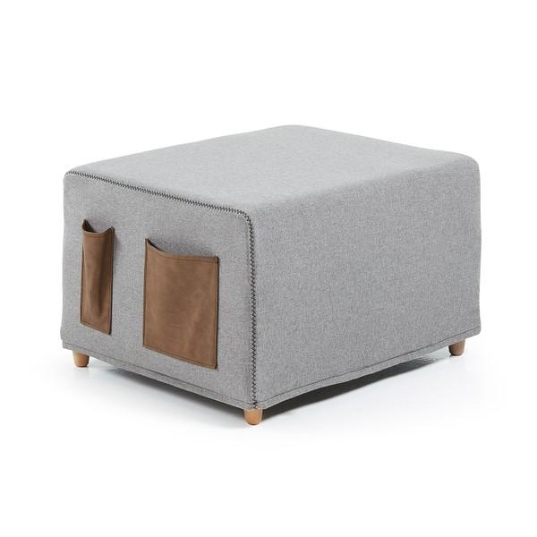 Sivá rozkladacia posteľ La Forma Kos, 70x180cm