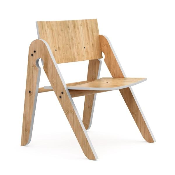 Detská stolička zbambusu Moso so sivými detailmi We Do Wood Lilly 's