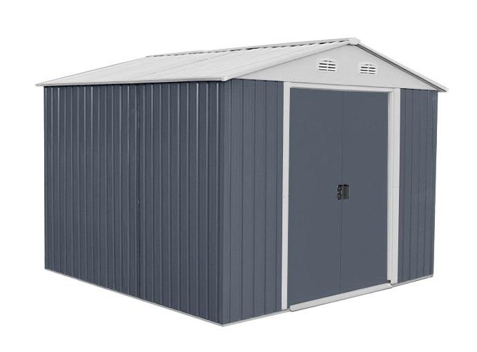 HECHT PLUS 10x8 záhradný domček - sivá / biela