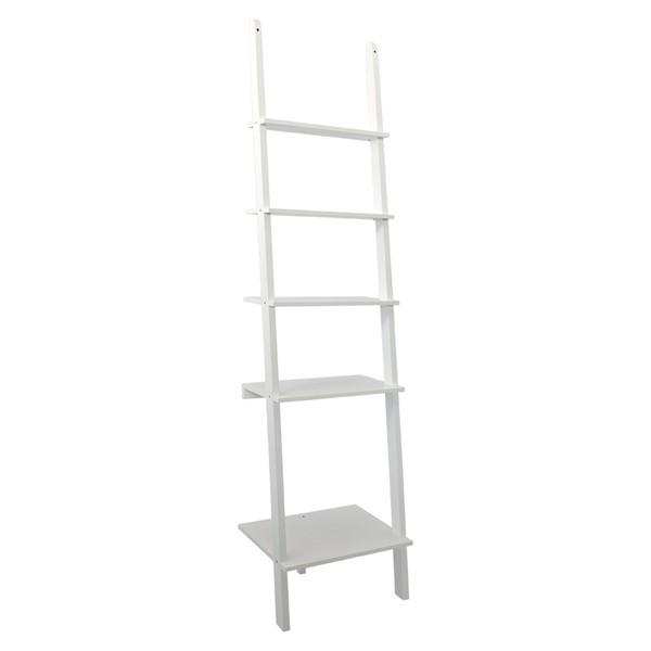 Biely rebrík spoličkami RGE Emil,200x50cm