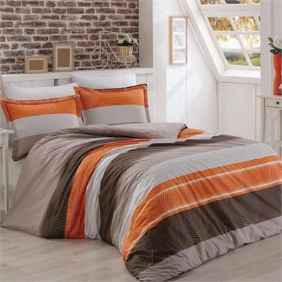 Bavlnené obliečky Delux Stripes lososová, 200 x 200 cm, 2 ks 70 x 90 cm